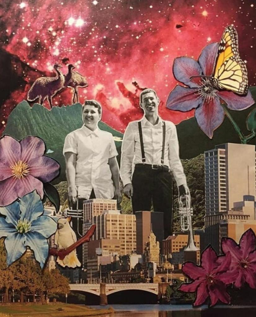 Album cover by Abi Trewartha. Featuring soloists LT and Josh Rogan